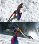 Yuna Samurai Victory Pose