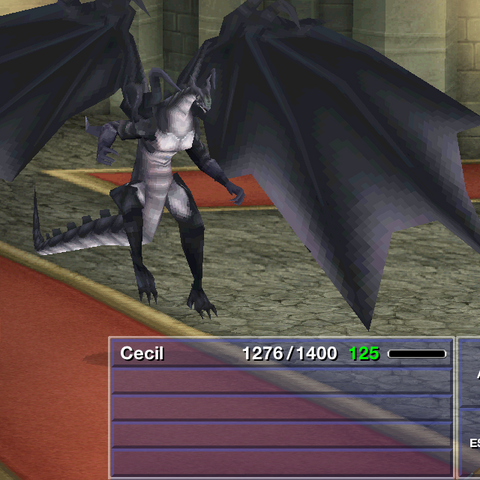 Bahamut in the 3D remake for smartphones.