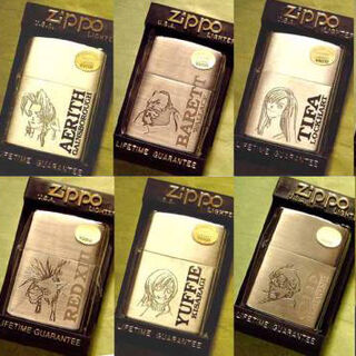 A complete set of 10 <i>Final Fantasy VII</i> Zippo lighters.