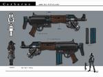 DG Submachine Gun Artwork