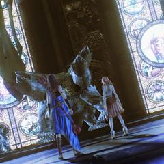 The chamber of fal'Cie Eden's servant (white).