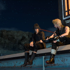 Noctis and Prompto.