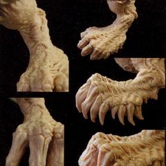 Clay model of Sin.