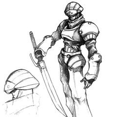 Concept art of a G-soldier, using the same model as Wedge.