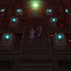 Inside the reactor in <i>Crisis Core -Final Fantasy VII-</i>.