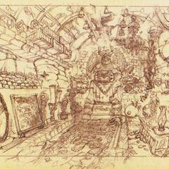 Concept art of the treasury.