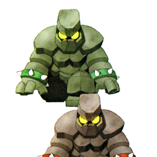 Golem artwork in <i>Chocobo's Dungeon 2</i>.