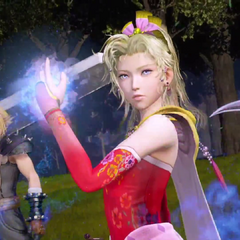 Terra, with Cloud and Lightning in her team.