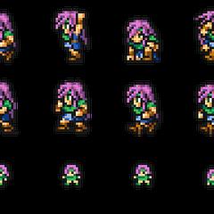 Set of Faris's sprites.
