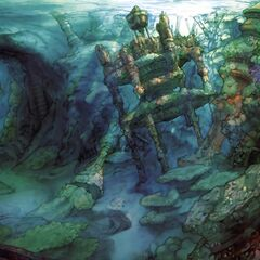 Concept artwork of the underwater Besaid.