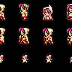 Set of Lenna's White Mage sprites.