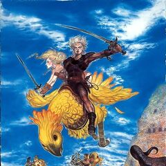 Special Yoshitaka Amano cover artwork for Electronic Gaming Monthly magazine.