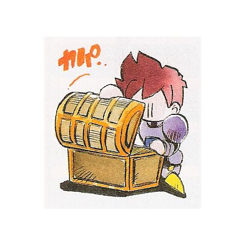 Artwork of a treasure chest (Japanese).