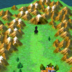 The Altar Cave on the world map (DS).