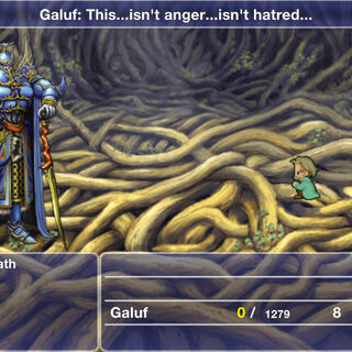 Galuf fights Exdeath within the Tree.