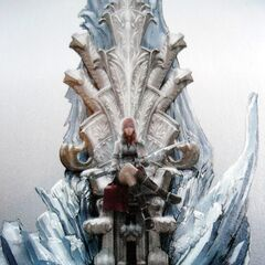 Scan of Lightning on Etro's Throne in her Guardian Corps uniform.