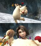 Yuna Mascot Victory Pose