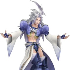 Render of Kuja's alternate outfit from <i>Dissidia</i>, based on Amano's artwork.
