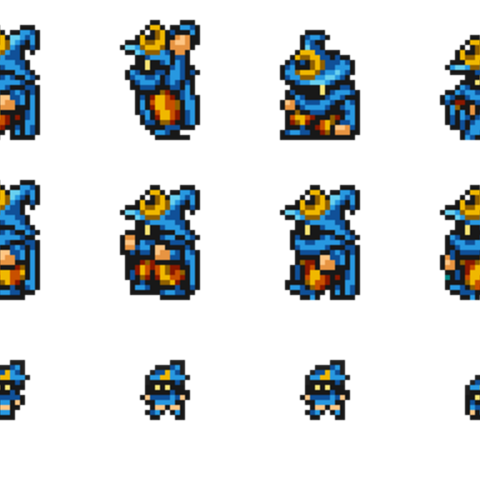 Sheet of Magus's sprites.