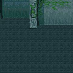 Battle background for Sunken Walse Tower (SNES).