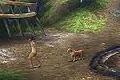 Lady walking her dog - Final Fantasy X-2 Remaster