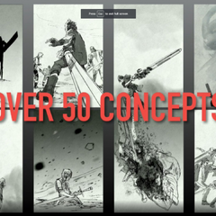 Concept artworks for the North American cover.
