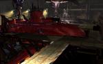 Underwater reactor red submarine