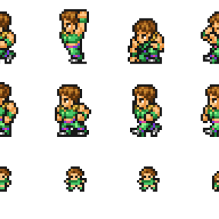 Set of Guy's sprites.