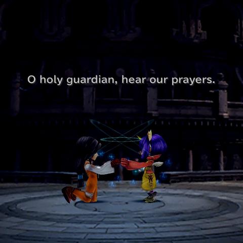 Garnet and Eiko summon Alexander.