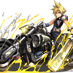 Cloud with the Hardedge for <i>Puzzle &amp; Dragons</i>.