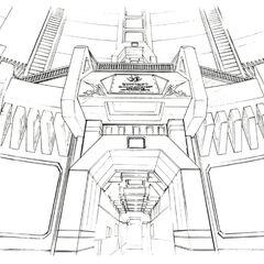 Hallway concept art.