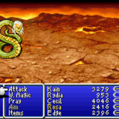 Rydia as a Pig (GBA).