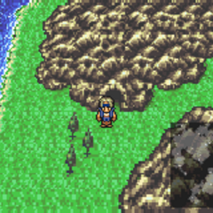The Esper Caves on the World Map (GBA).