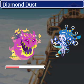 Diamond Dust in battle.