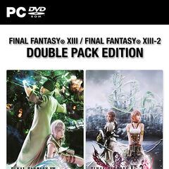 <i>Final Fantasy XIII + XIII-2 Double Pack</i> for Europe (PC).