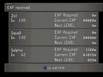 FFVIII Level Up Screen