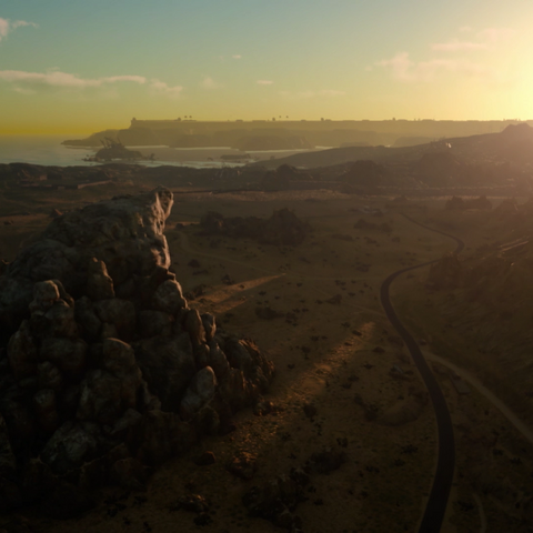 The wasteland around Lucis; the wall of Insomnia is visible on the horizon.