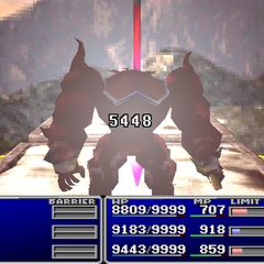 The weapon during the Gunge Lance animation in <i>Final Fantasy VII</i>.