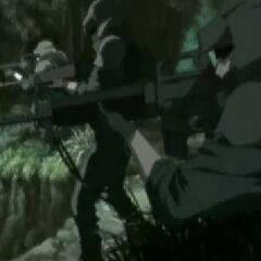 Shinra infantrymen in <i>Last Order</i>.