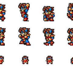 Set of Knight sprites.