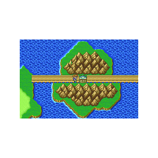 The Island Shrine on the Merged World world map (GBA).