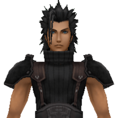 Model of 1st class Zack with his new hair from <i>Crisis Core -Final Fantasy VII-</i>.