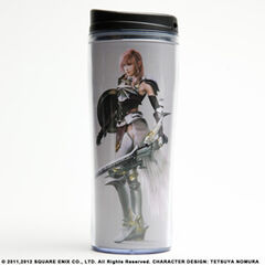 Coffee tumbler with Lightning from <i>Final Fantasy XIII-2</i>.