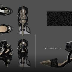 Concept art of Lunafreya's shoes.