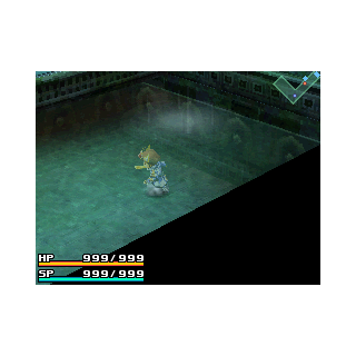 The player cannot swim in water, and will take damage from it.