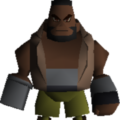 Barret's field model in <i>Final Fantasy VII</i>.