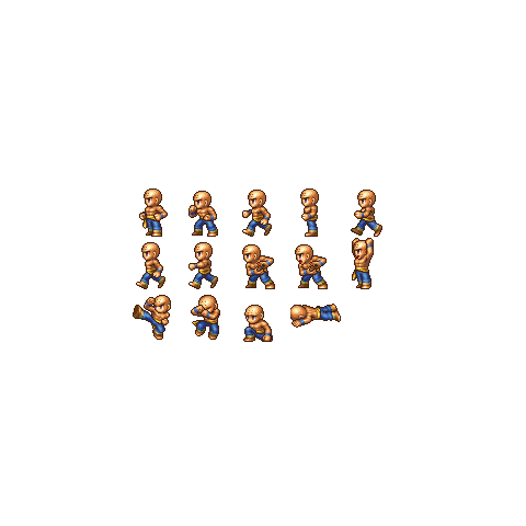Battle sprite for Monks A and B (PSP).