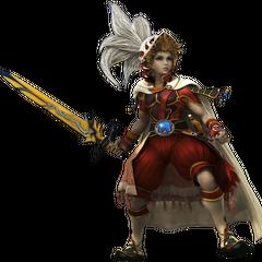 CG render of the Onion Knight in <i>Dissidia Final Fantasy</i>.