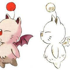 Concept art of a typical moogle.