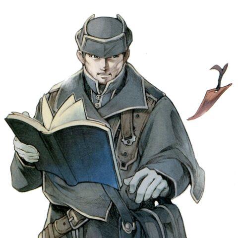 Promotional artwork of Gwynham Ironheart by Fumio Minagawa.